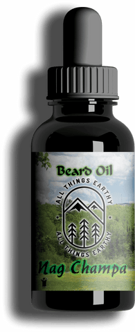 Nag Champa Premium Beard Oil 1oz - All Things Earthy