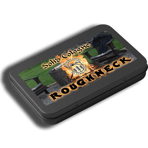 Roughneck Solid Cologne .05oz (Black Slide Top Tin) - All Things Earthy