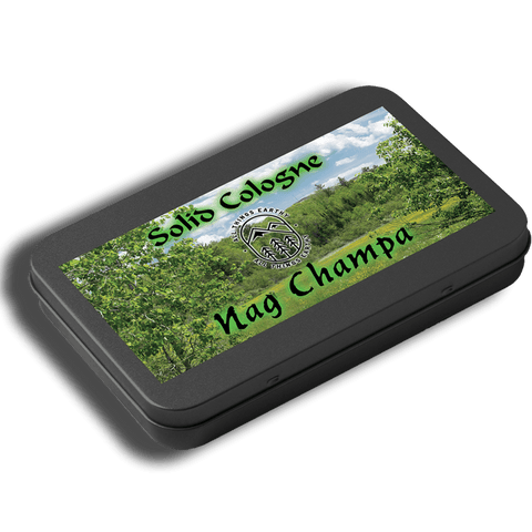 Nag Champa Solid Cologne .05oz (Black Slide Top Tin) - All Things Earthy