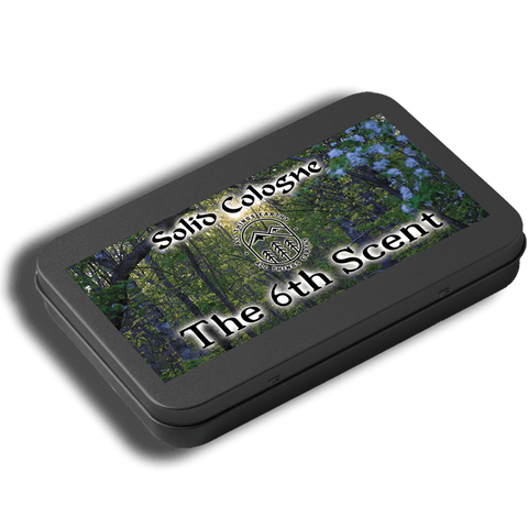 The 6th Scent Solid Cologne .05oz (Black Slide Top Tin) - All Things Earthy