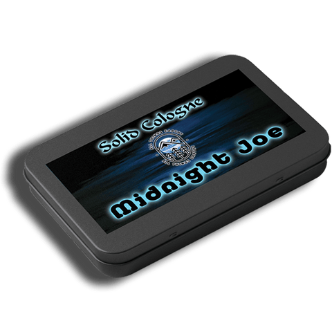Midnight Joe Solid Cologne .05oz (Black Slide Top Tin) - All Things Earthy