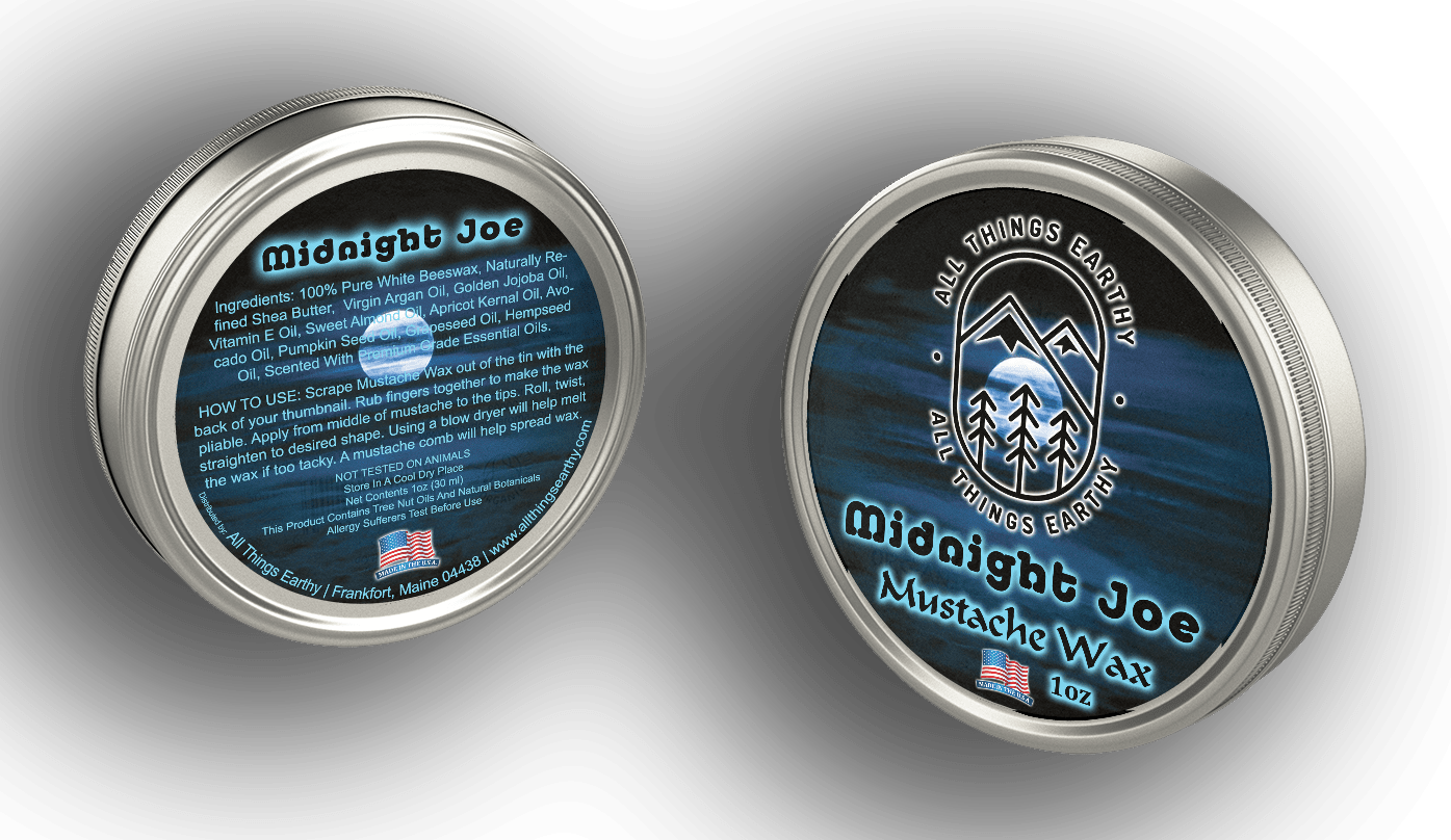 Midnight Joe Mustache Wax 1oz - All Things Earthy