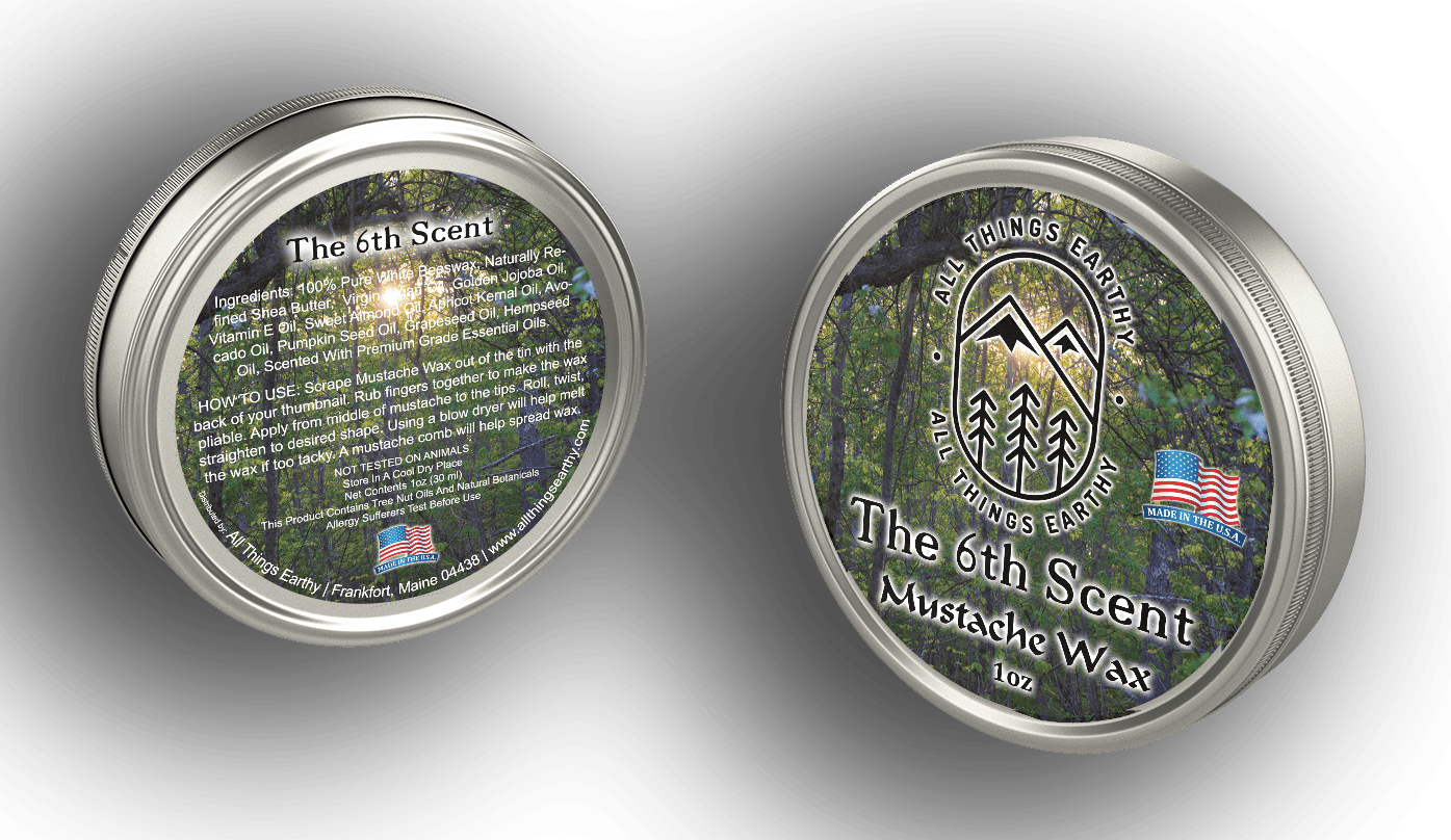The 6th Scent Mustache Wax 1oz - All Things Earthy
