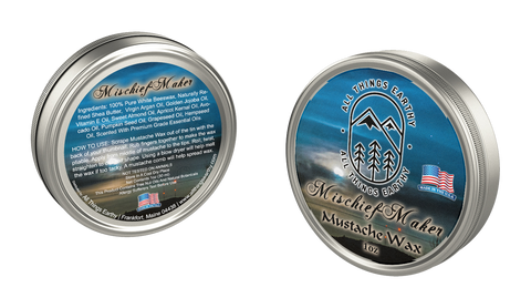 Mischief-Maker Mustache Wax 1oz - All Things Earthy