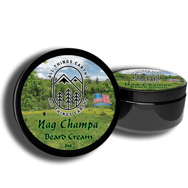 Nag Champa Beard Cream 2oz - All Things Earthy