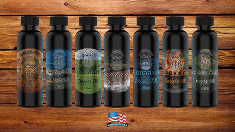 7 Scent Beard Oil Sampler Set .13oz Each - All Things Earthy