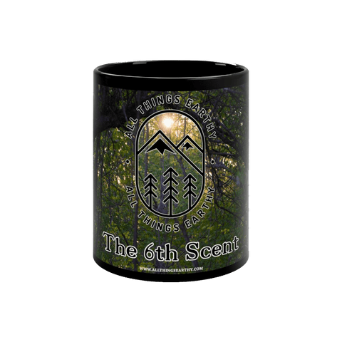 The 6th Scent Black mug 11oz - All Things Earthy
