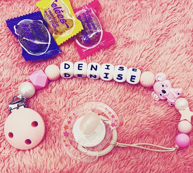 TYRY.HU Name personalized Silicone Pacifier Clip for Baby Girls