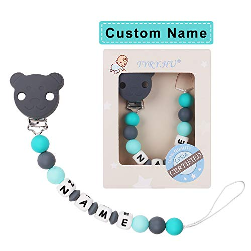 Name Personalized Bear Pacifier Holder - TYRY.HU