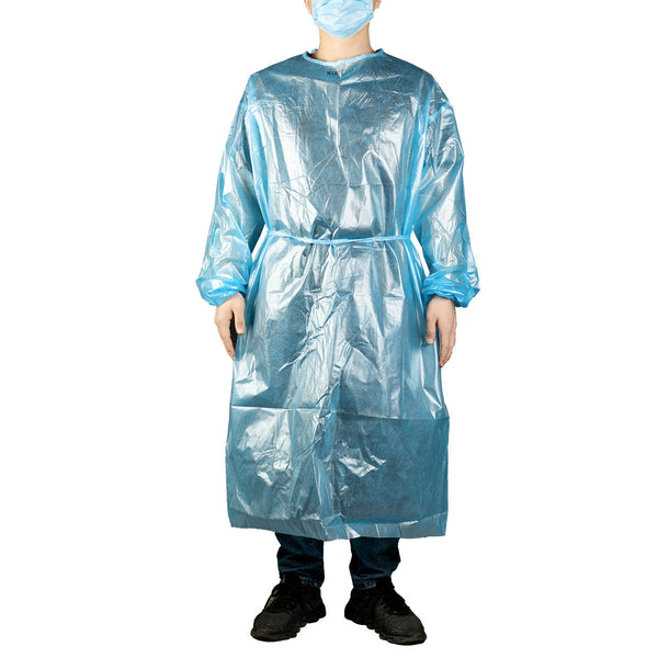 MCGMITT Surgical Gown Protective Suit Polyethylene Workwear Medical Grade PE Coated Clothing for Men and Women. Lightweight, Breathable