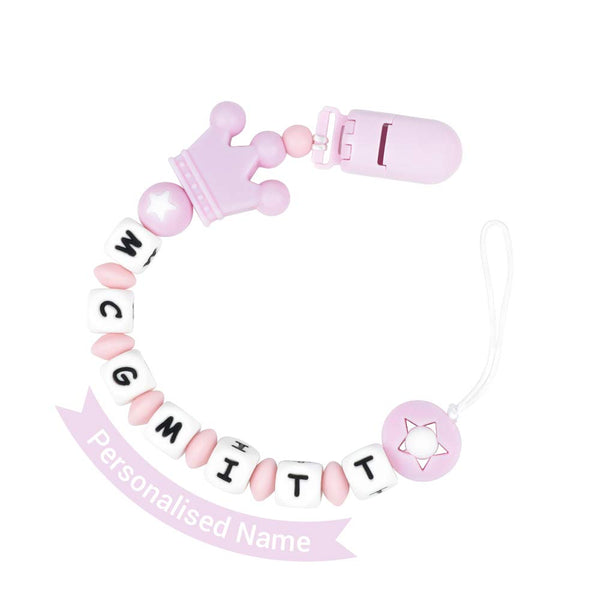 Infant Pacifier Clip Customize Name