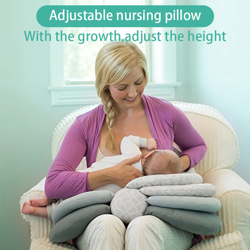 Brestfeed Nursing pillow for babies, adjustable in layers