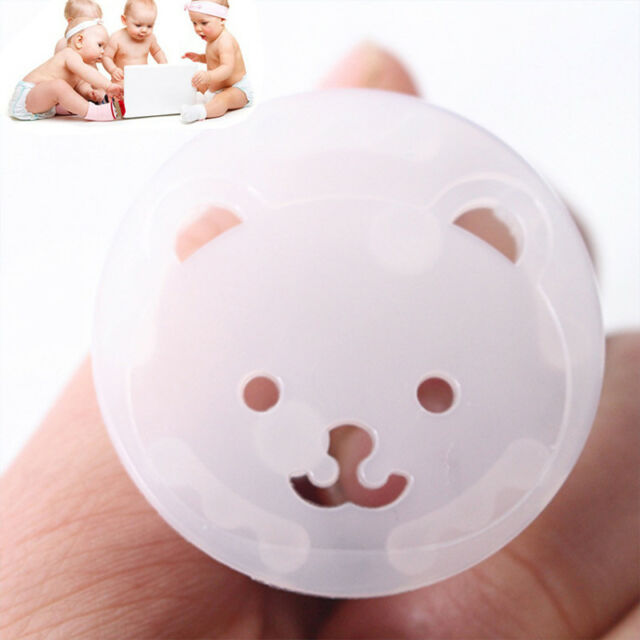 TYRY.HU 10pcs Bear Power Socket Protector Cover Baby Safety Anti Electric Shock Plugs