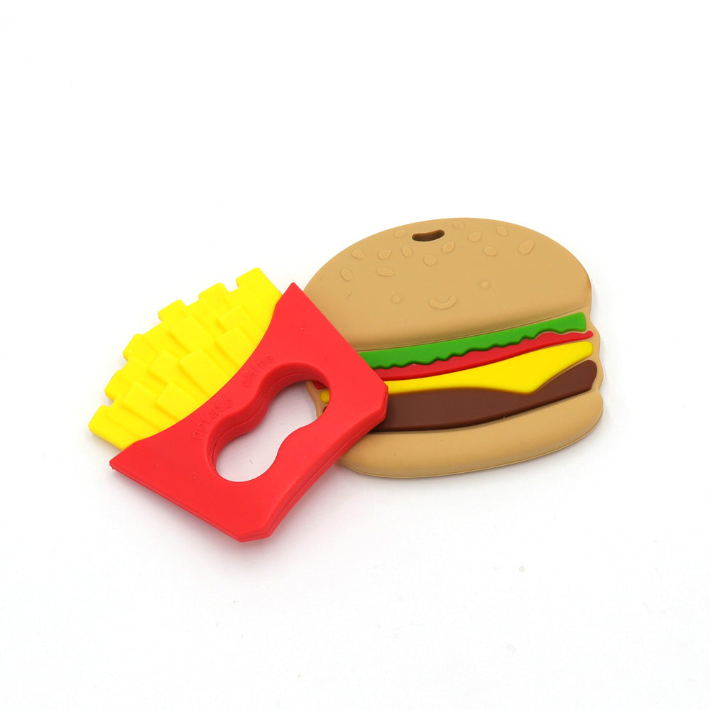 TYRY.HU Baby French Fries Hamburger Silicone Teether Toys