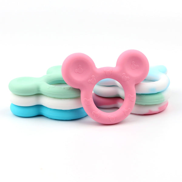 Mickey Shaped Silicone Teether Baby Teething Toys