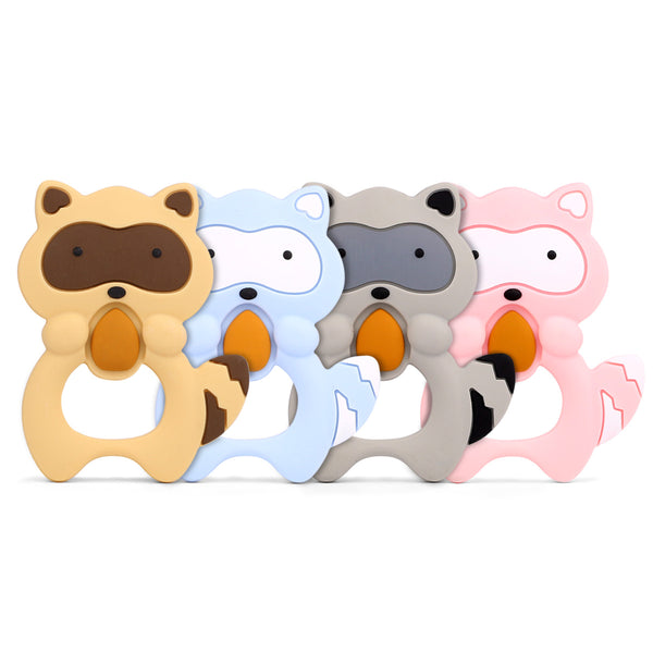 Baby Little raccoon silicone teether