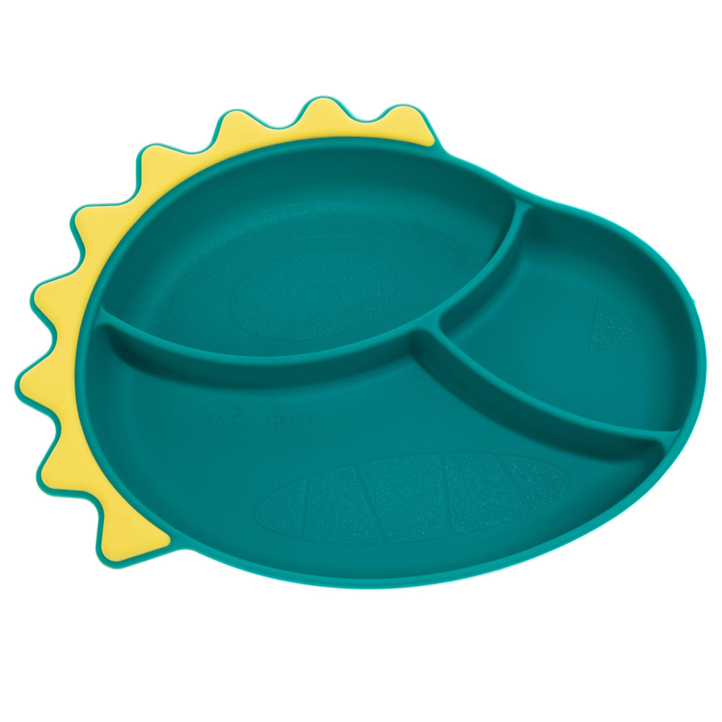 TYRY.HU Baby Silicone Plate Dinosaur Dishes
