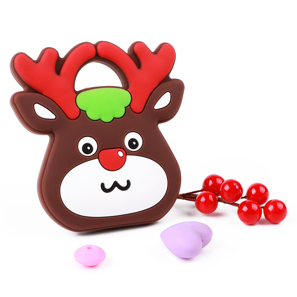 Christmas Elk Head Silicone Teether - TYRY.HU