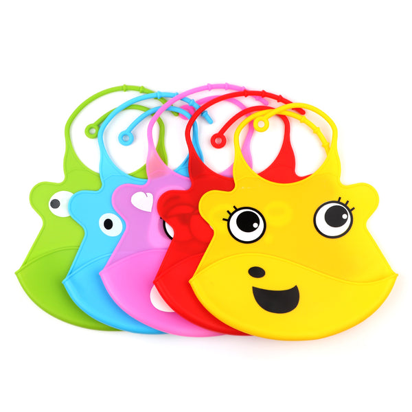 TYRY.HU Baby Toddler Newborn Best Silicone Bibs Teething Waterproof Bibs