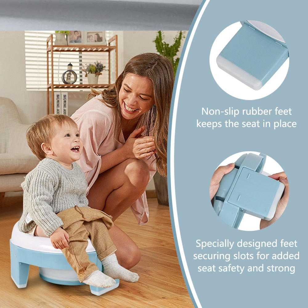 3-in-1Travel Potty Seat Trainer Portable Foldable for Unisex Baby