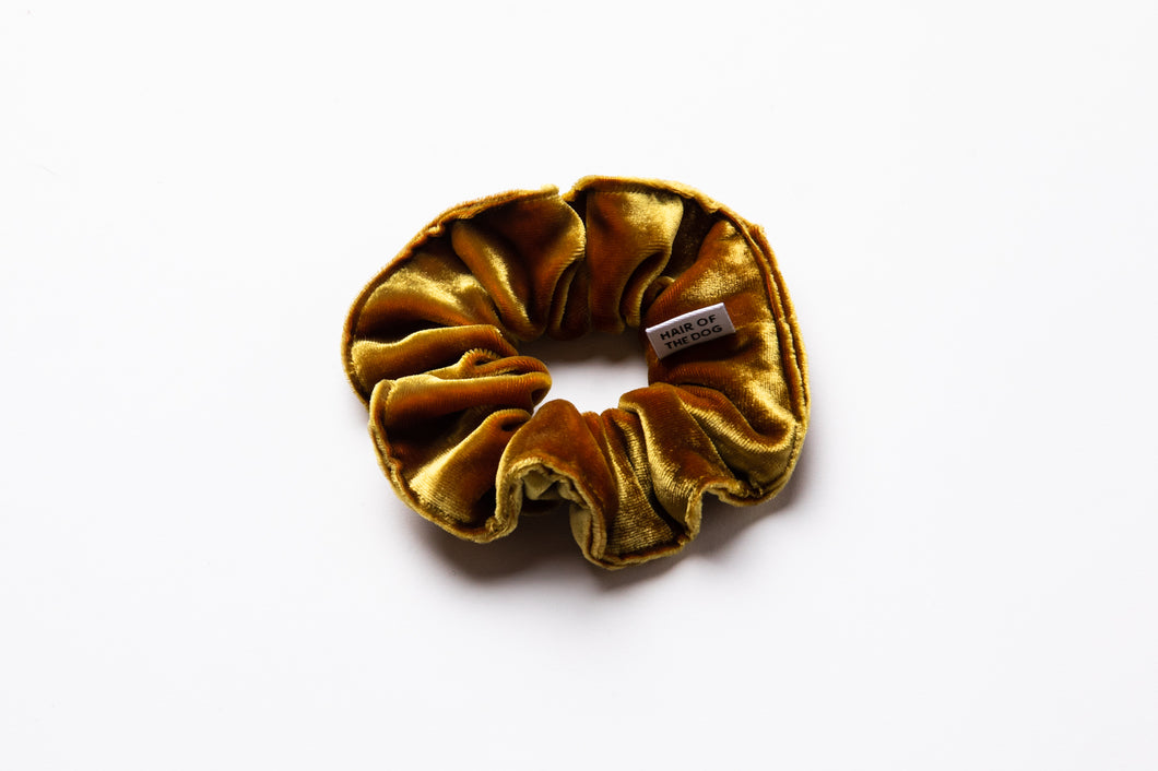 Velvet Scrunchie (Electric Yellow)