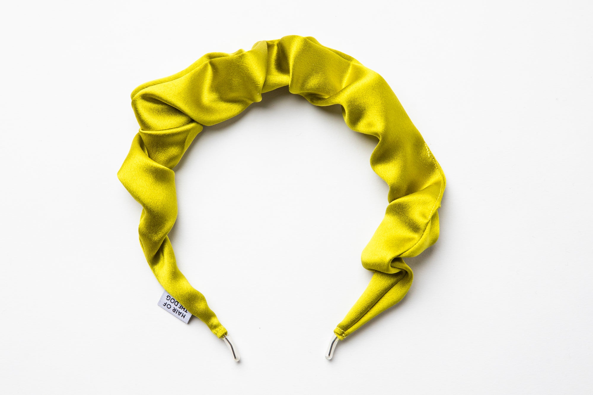 Silk Scrunchie Hairband (Chartreuse)
