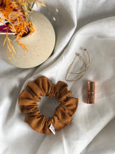 Load image into Gallery viewer, Linen Scrunchie (Copper)