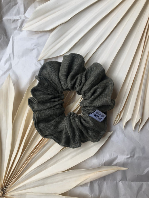 Linen Scrunchie (Forest)
