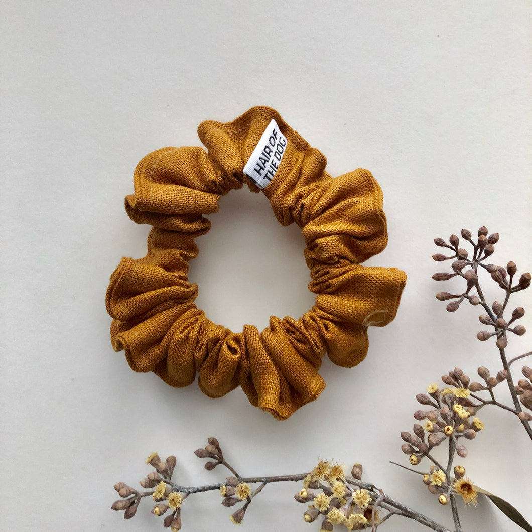 Small Linen Scrunchie