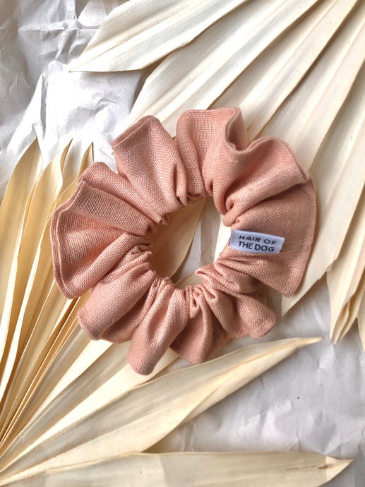 Linen Scrunchie (Peach)