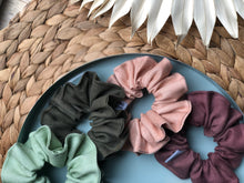 Load image into Gallery viewer, Linen Scrunchie (Forest)