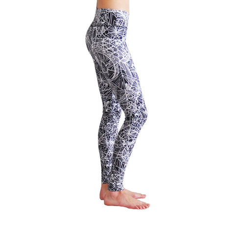 high resistance leggings, black and white