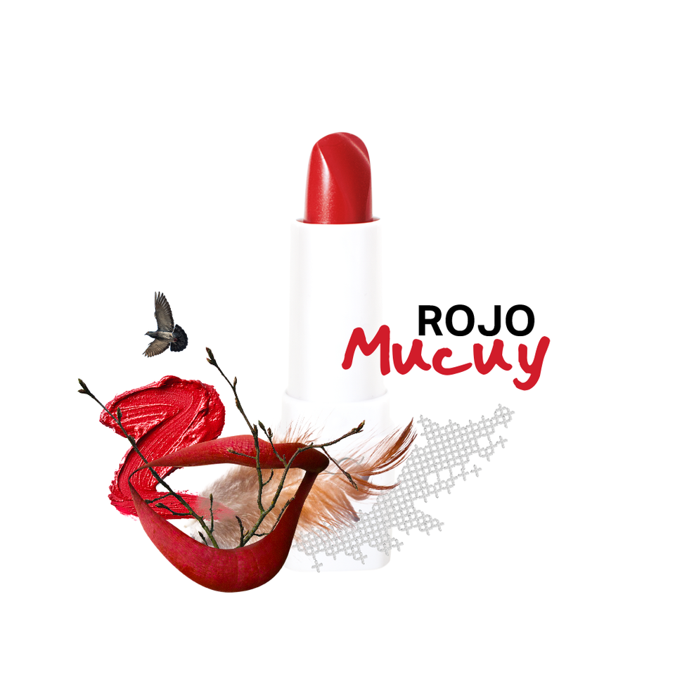 labial rojo intenso mate picopico cosmetico mexicano natural