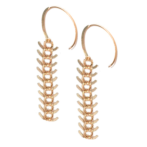 CHLOE - GOLD ARTICULATED CHAIN DROP EARRINGS