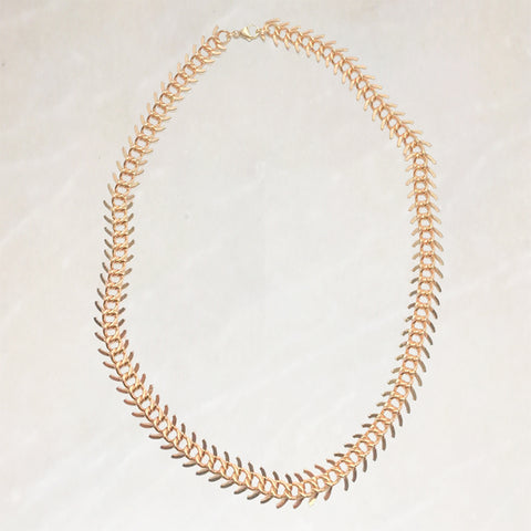 CHLOE - GOLD ARTICULATED CHAIN CHOKER