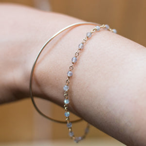 """bangle-chain"" bracelet - natural labradorite"
