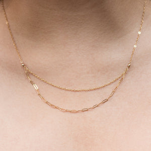 """double-layer"" chain necklace"