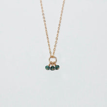 Load image into Gallery viewer, may birthstone - emerald - charm necklace