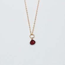 Load image into Gallery viewer, january birthstone - garnet - charm necklace