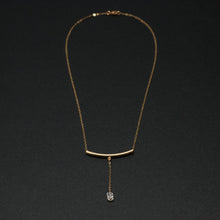 "Load image into Gallery viewer, three-stone drop ""Y"" necklace"