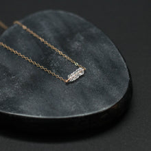 Load image into Gallery viewer, five-stone bar necklace
