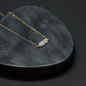 five-stone bar necklace