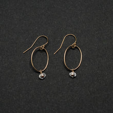 Load image into Gallery viewer, oval link drop earrings