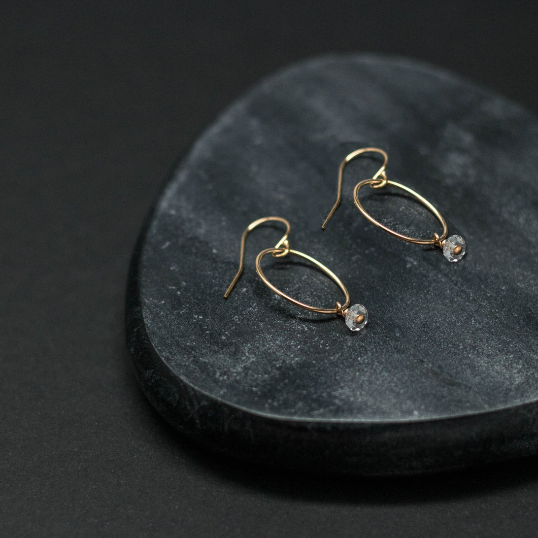 oval link drop earrings