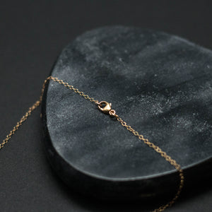 "three-stone drop ""Y"" necklace"