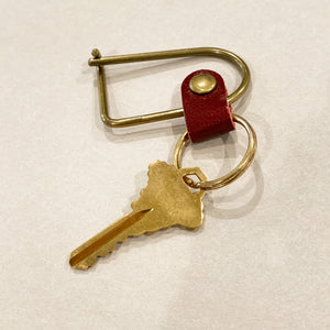 brass key ring - valet