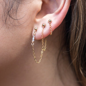 """front-to-back"" chain earrings - round link"