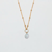 Load image into Gallery viewer, june birthstone - moonstone - charm necklace