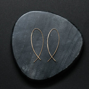 """lupa"" - artisanal hammered hoops"