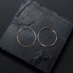 """classico"" - artisanal hammered earrings"